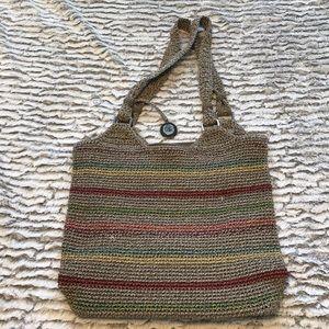 The SAK multi colored with silver hardware purse